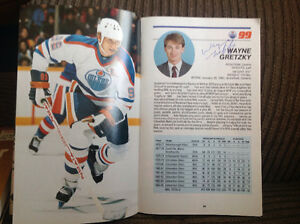 Official Edmonton Oilers 1985-1986 Guide with autographs Peterborough Peterborough Area image 2