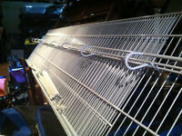 22' of wire pantry / closet shelving with brackets.
