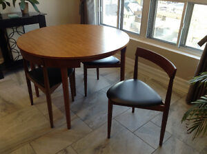 Solid teak Dinette Table and 4 Chairs