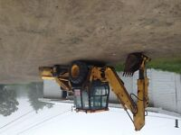 Back hoe extend a boom turbo, 2wd