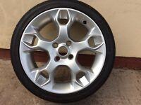 "Alloy wheel & tyre new unused 7""x17"" Ford Fiesta"
