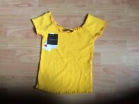 Top shop yellow top size 4