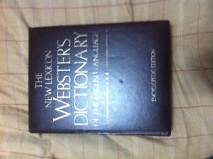 vintage Websters hardcover dictionary
