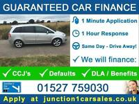 BAD CREDIT GUARANTEED CAR FINANCE - VAUXHALL ZAFIRA 1.8 SRI 7 SEATER 2008 58