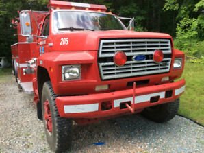Camion pompier / incendie Ford F-800 1988