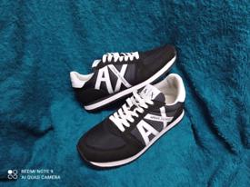 Armani Exchange black retro runner trainers. Men uk 6. hardly worn.