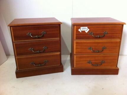 Vintage bedside drawer pair 3205. tall boy in Ballarat Region  VIC   Home   Garden   Gumtree