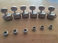Vintage Grover Deluxe In-line Tuning pegs for strat/telecaster guitar