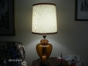 Glass Bottomed Table Lamps    Estate Sale