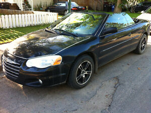 LOW KILOMETER! 156,000KM Black CONVERTIBLE 2005 Chrysler Sebring