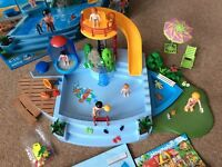 Playmobil set 4858 functioning pool with slide and shower