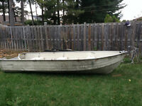 14ft aluminum boat with motor and trailer