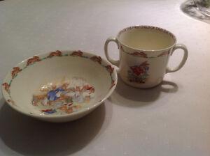 Royal Doulton Bunnykins Bowl & Two Handled Cup