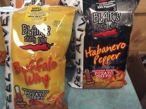 Blairs Chips and Hot sauces