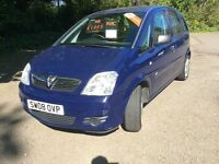 2008 Vauxhall Meriva, Finance Available, Diesel, 3 Months Warranty, 12 Months MOT