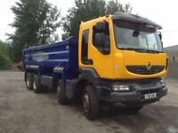 RENAULT KERAX 410 DXI 8X4 STEEL BODY TIPPER 32T GROSS EURO 5