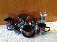Retro mickey mouse coffee set.