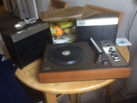 Philips vintage portable record player.(Boots).