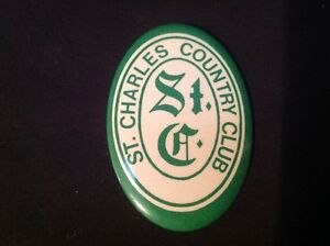ST.CHARLES COUNTRY CLUB PINBACK BUTTON