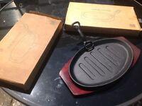Brand new steak platter set x2