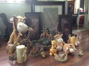 Collection de girafes