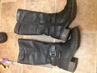 Women's size 4 long boots