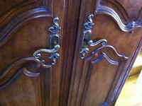 Beautiful Antique Country French Provincial Wardrobe