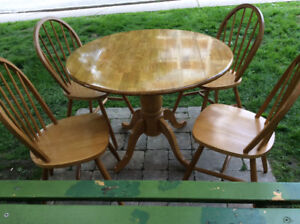 Dining set, 5 piece solid wood
