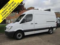 2013 13 MERCEDES SPRINTER 313CDI MWB HIGH ROOF. 1 OWNER. 8 SERVICES. FINANCE.