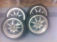 jw rims with toyo low profile tires great condition