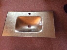 Amazing designer gold glass bathroom sink