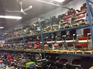 Various Antique Barber Chairs (100+ IN STOCK)