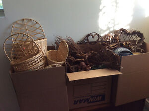 Grapevine Wreaths and Baskets etc.