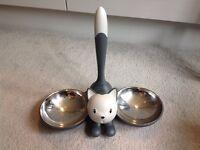 Stylish Alessi cat bowls