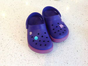 Girls size 2 Crocs Kitchener / Waterloo Kitchener Area image 1