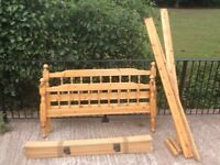 Solid pine double bed in good solid condition