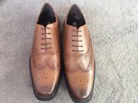NEW Redfoot Tan Leather Brogues shoes men's 8