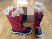 Designer Leather and Fur Trim Sorel Boots | Brand New , Size 4