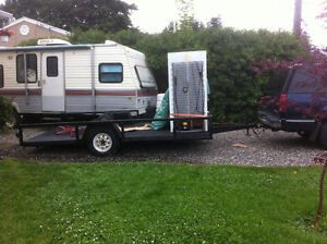 Flat deck trailer great for for hunting/ atv or side by side