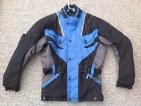 Nylon quilted motorcycle jacket