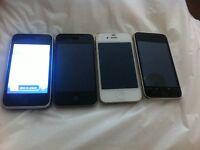 JOBLOT OF 4 APPLE IPHONES FOR SPAIRS OR REPAIRS