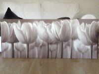 Large IKEA tulips canvas