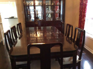 SOLID,  ROSE WOOD Dining set with Buffet Hutch