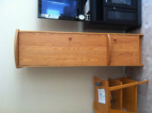 2 Oak Cabinets /Sold together or Seperate