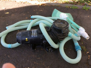 Pool pump and skimmer