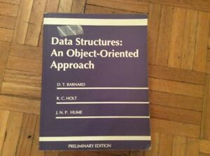 Data structures object oriented approach S.T. Bernard, R.C.Holt,