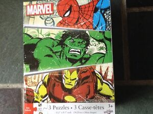 Marvel 3 pack puzzle kit