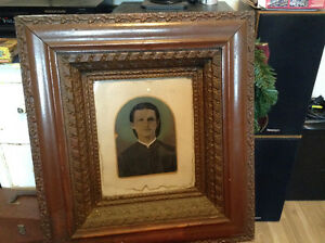 Early 1800's Oil on Sheet of Copper Portrait of a Young Man St. John's Newfoundland image 2