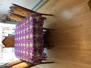 Hand crocheted tablecloth