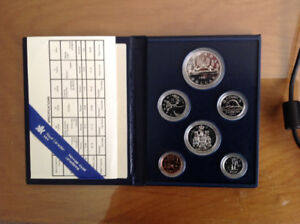 1981 Royal Canadian Mint Proof 6 Coin Set in Case
